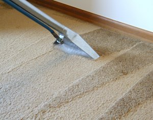 carpet cleaning with machine
